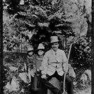 August Strindberg and daughters, Karin and Greta - 8x10 photo