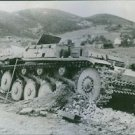 German tank knocked out during the Allied offensive in North Africa. - 8x10 phot