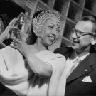 Josephine Baker and a man, smiling.  - 8x10 photo