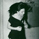 Juliette Greco in black dress.  - 8x10 photo