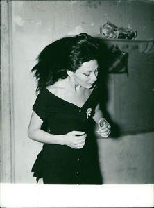 Juliette Greco in black dress.  - 8x10 photo