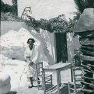 Salvador Dali in his retreat in Spain. - 8x10 photo