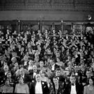 Full house - people watching a movie. - 8x10 photo