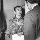 Rudolf Khametovich Nureyev talking. - 8x10 photo