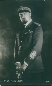 Close up of Italian Blackshirt  leader Italo Balbo, while he have standing - 8x1