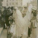 Ann-Mari Tengbom arrival at her wedding in Berlin. 1928. - 8x10 photo