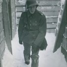Gösta Hallberg-Cuula walking in snow. - 8x10 photo