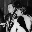 Jeanne Moreau with a man.  - 8x10 photo