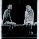 Sammy Davis Jr. talking to a woman.     - 8x10 photo