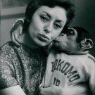 Caterina Valente with monkey. - 8x10 photo