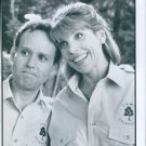 Peter MacNicol and Christine Jane Baranski during The family Addams films. 1993