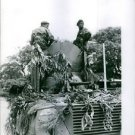 Two soldier riding on an artillery in kongo , 1961. - 8x10 photo