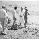 Audrey Hepburn on beach. - 8x10 photo