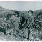 In Turkey, rural children gather sticks for firewood,1964 - 8x10 photo
