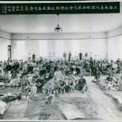Chinese refugees gathered in a huge hall, Shanghai,  War Japan China 1937. - 8x1