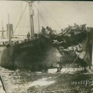 SS Storstad damaged after collision with the Empress of Ireland, 1914. - 8x10 ph