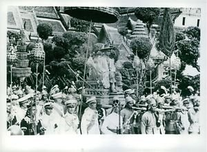 His Majesty King Bhumibol Adulyadej of Thailand's Coronation, on 5th May 1950. -