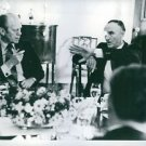 """""""Mike"""" Mansfield communicating with Gerald Rudolph Ford., sitting.  - 8x10 phot"""