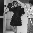 Jean Rosemary Shrimpton wearing a black dress. - 8x10 photo