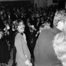 George Harrison smiling, with back to photographers. - 8x10 photo