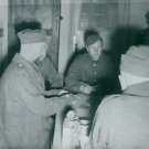 German prisoners playing cards.- Oct 1939 - 8x10 photo
