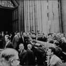 """Men carrying grave of Robert Francis """"Bobby"""" Kennedy. - 8x10 photo"""