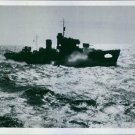 Norwegian corvet during patrol duty on the Atlantic - Spring 1942. - 8x10 photo