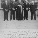 Pope John XXIII standing with men. - 8x10 photo