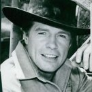 Portrait of an American television actor Robert Horton as his character Flint Mc