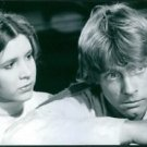 """A scene from the film """"Star Wars"""", with Carrie Fisher as Princess Leia and Mark"""