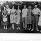 Queen Fabiola standing with people. - 8x10 photo