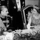Queen Fabiola sitting with man. - 8x10 photo