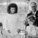 Jacqueline Kennedy with her children. - 8x10 photo