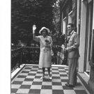 Fabiola waving hand with Baudouin. - 8x10 photo
