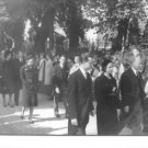 Fabiola and Baudouin with people. - 8x10 photo