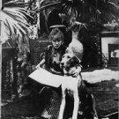 Sarah Bernhardt with her dog. - 8x10 photo