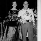Queen Fabiola standing with man. - 8x10 photo