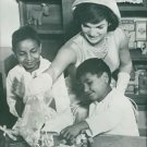 Jacqueline Kennedy with children. - 8x10 photo