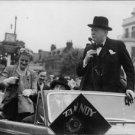 Winston Churchill speaking. - 8x10 photo