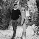 Ingrid Bergman and Anthony Perkins on set of Goodbye Again. - 8x10 photo