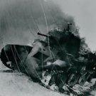 World War I. Burning Soviet tank. - 8x10 photo