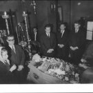 People standing around Georgios Papandreou coffin, showing him their respect.  -