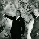 Salvador Dali showing painting. - 8x10 photo