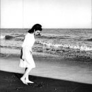 Faten Hamama standing on beach. - 8x10 photo