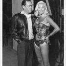 Diana Dors and Eddie Constantine smiling. - 8x10 photo