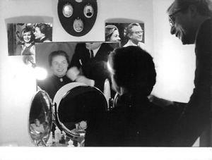 Ingrid Bergman looking at mirror. - 8x10 photo