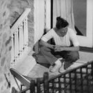 Katherine Hepburn sitting down.  - 8x10 photo