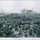 Hiroshima now in rubble after being hit by the first atomic bomb. - 8x10 photo