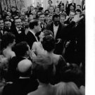 Mel Ferrer and Audrey Hepburn between crowd.  - 8x10 photo