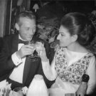 Maria Callas with man while drinking. - 8x10 photo